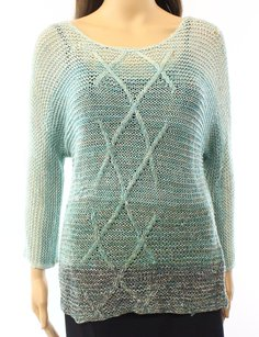 NIC+ZOE Batwing Dolman Linen-blends Sweater