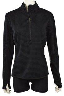 Nike Womens Textured 12 Zip Long Sleeve Shirt Sweater