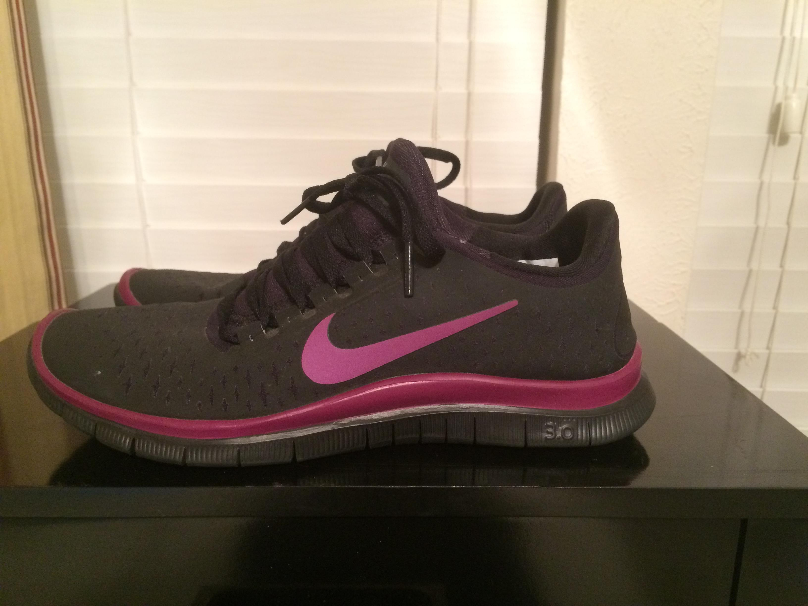 These; brand shoes 2b2fc 3fc98 Nike Black Purple Free Id 3.0 Running  Sneakers ...
