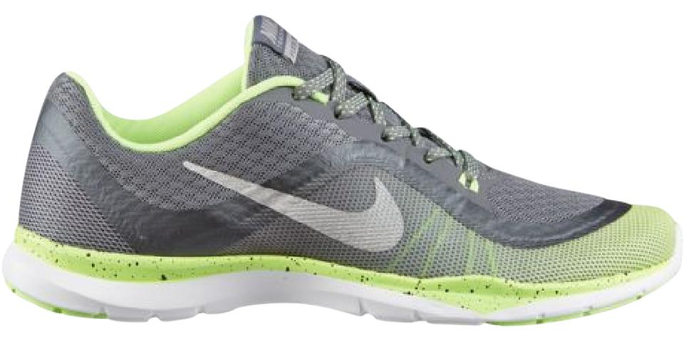 Nike Lime Green and Grey Flex Trainer 6 Regular Sneakers Size US 7 Regular 6 (M, B) 0df184