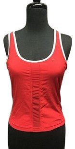 Nike Nike Red Stretch Athletic Sleeveless Sheer Sides W Bra Workout Top 2798a