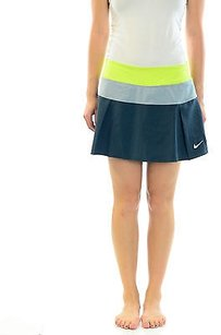 Nike Nike Victory Court Skirt Color Block Pleated Tennis Skort Voltcharcoal