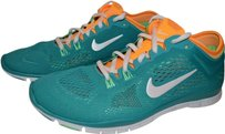 Nike Running Free Emerald Turbo Green, White, Atomic Mango Athletic