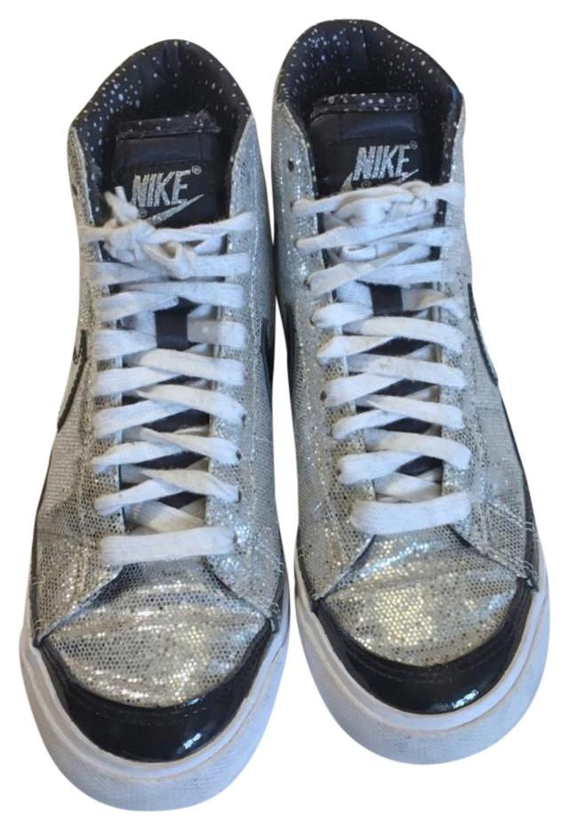 Nike patent leather glitter high tops silver black jpg 301x440 Glitter nike  tennis shoes 3d5ff3864e