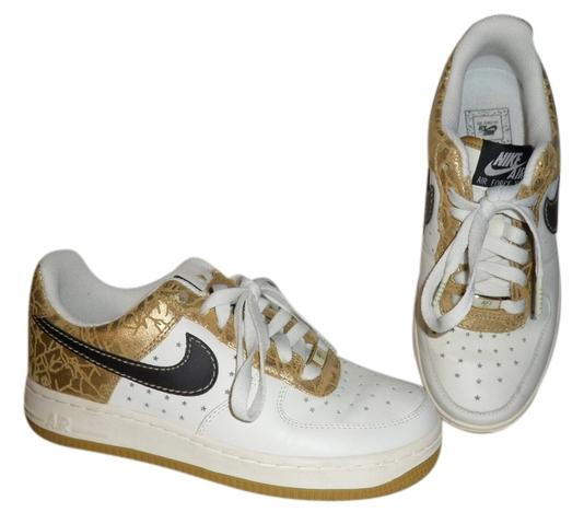 Nike white, gold and black Athletic
