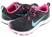Nike Wild Trail Anthracite Pink White Womens Designer Running Lace Up Sneakers Multi-Color Athletic