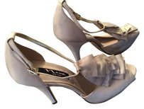 Nina Shoes Trendy Leather Champagne Formal