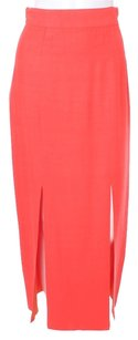 Nina Vintage Couture Panel Skirt Coral