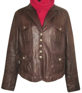 Nine West BROWN Leather Jacket