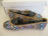 Nine West Socialo Straw With Box And Trees Multi-Color Flats