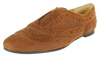Nine West Womens Leather brown Flats