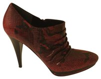 Nine West Red / Black Snake Print Boots