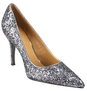 Nine West Spar Sparkle Glitter Holiday Prom Pewter Formal