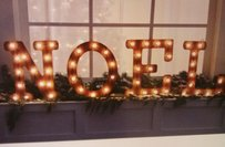 Noel Lighted Marquee Sign Letters Light Up Sign Holiday Wedding