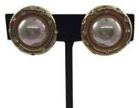 Nolan Miller Nolan Miller Gold Tone Pearl Clip On Earrings