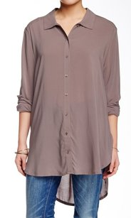 Nordstrom 100% Rayon Button Down Shirt Top