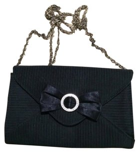 Nordstrom Satin Vintage Party Black Clutch