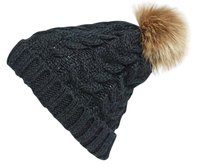 Nordstrom Knit Beanie with Faux Fur Pompom