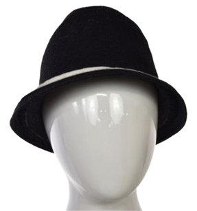 Nordstrom Nordstrom Womens Black Woven Bucket Hat One Casual Straw