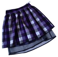 Nordstrom Plaid Checkered Black White Tulle Holiday Small Xs Skirt Purple