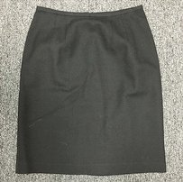 Norton McNaughton Wool Zip Slit Pencil 880 Skirt Black