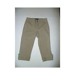 NYDJ Womens Not Your Daughters Capri/Cropped Pants Beiges
