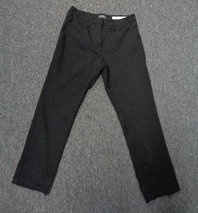 NYDJ Not Your Daughters Black Solid Cotton Pants Sma 6525 Straight Leg Jeans