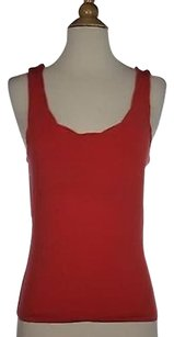 Odille Womens Solid Sleeveless Tencel Blend Shirt Top Orange