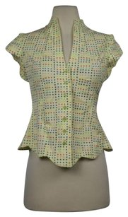 Odille Cotton Button Down Top Yellow