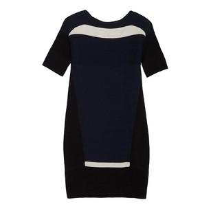 Ohne Titel short dress blue black cream Herve Leger on Tradesy
