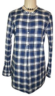 Old Navy White Plaid Tunic