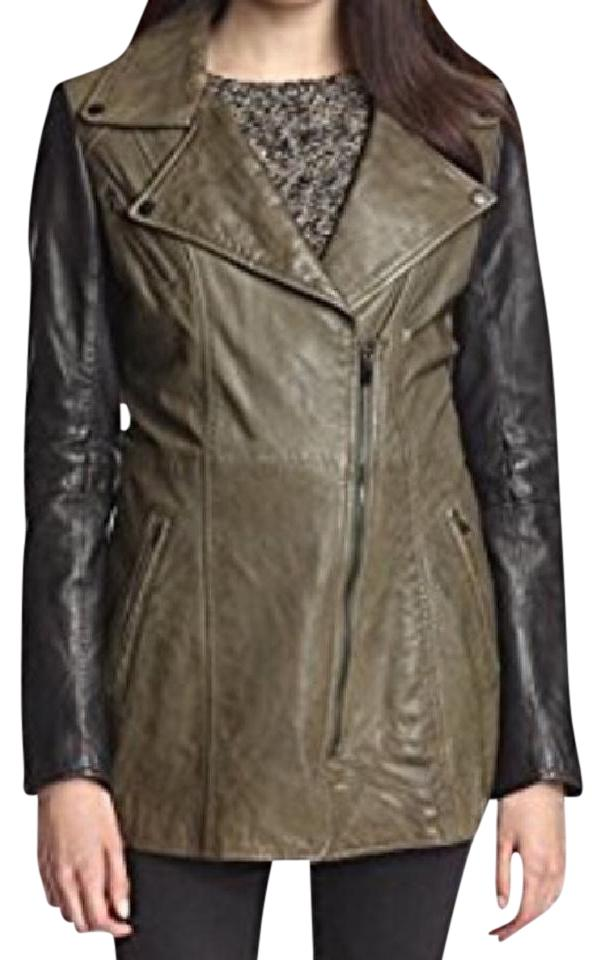 Olive Green/Black Women's Sadie Long Perfect Leather ...