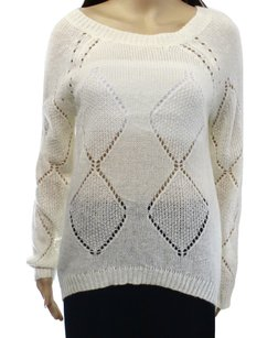 Olivia Sky Acrylic Boat-neck Long-sleeve Sweater