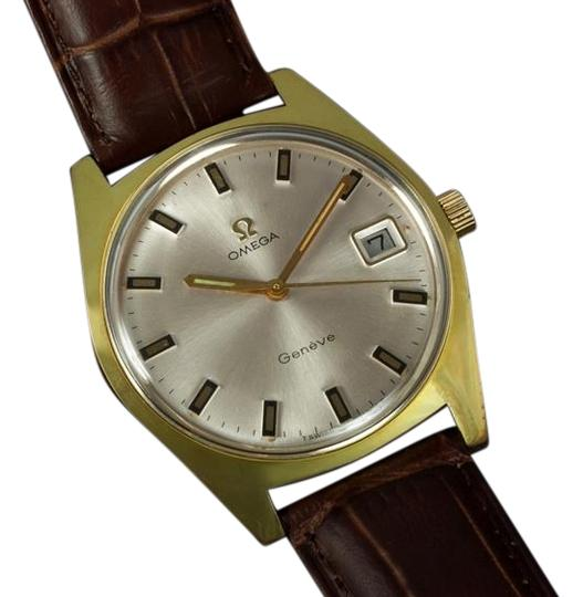 Omega 1970 Geneve Vintage Tropical Mens Watch, Date