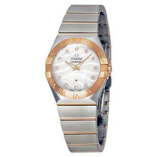 Omega Constellation Mother of Pearl Diamond Dial Steel and Ladies Watch