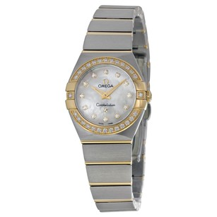 Omega Constellation White Mother-of-Pearl Dial Ladies Watch
