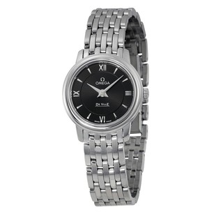 Omega De Ville Prestige Black Dial Stainless Steel Ladies Watch