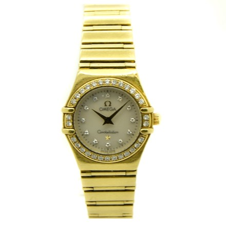 Omega Omega Constellation My Choice 18K YG MOP Diamond dial & bezel Ladies Watch