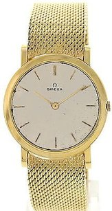 Omega Mens Vintage Omega 18k Yellow Gold Watch