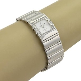 Omega Omega Quadra Constellation Mop Diamond Dial Bezel Stainless Steel-1528.76