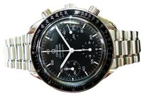 Omega Mens Omega Speedmaster Automatic Chronograph Stainless Steel Watch Circa 1998