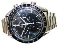 Omega Mens Omega Speedmaster Professional Chronograph Steel Moon Watch C. 1985