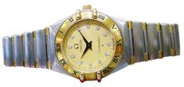 Omega Ladies Omega Constellation 18k Gold Stainless Steel Diamond Quartz Watch