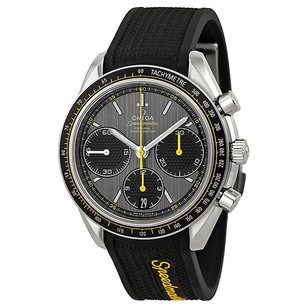 Omega Speedmaster Racing Grey Dial Black Rubber Men's Watch 32632405006001
