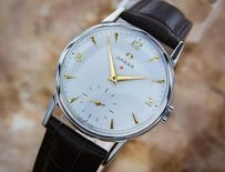 Omega Swiss Omega Calibre 267 Circa 1950s Manual Stainless Steel Mens Watch Eb134