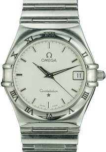 Omega Omega Unisex Constellation Stainless Steel 34mm White Dial - Pre-Owned