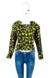 Opening Ceremony Black Yellow Top Multi-Color