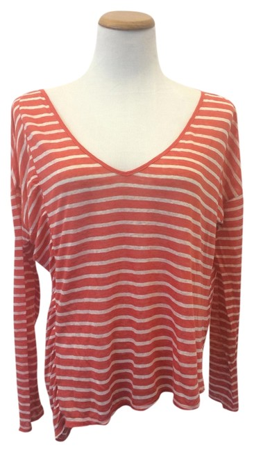 Preload https://item2.tradesy.com/images/orange-and-white-fred-segal-blouse-size-4-s-1661531-0-0.jpg?width=400&height=650