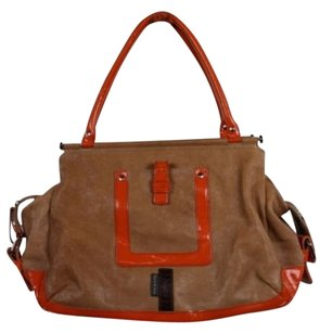 Orla Kiely Womens Satchel in Tan Orange