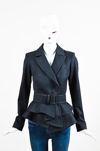 Oscar de la Renta Wool Gray Jacket